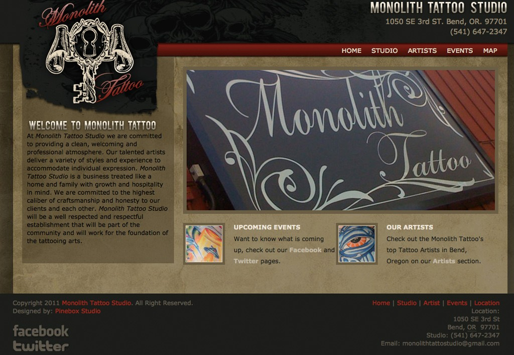 Monolith Tattoo Studio Bend Full