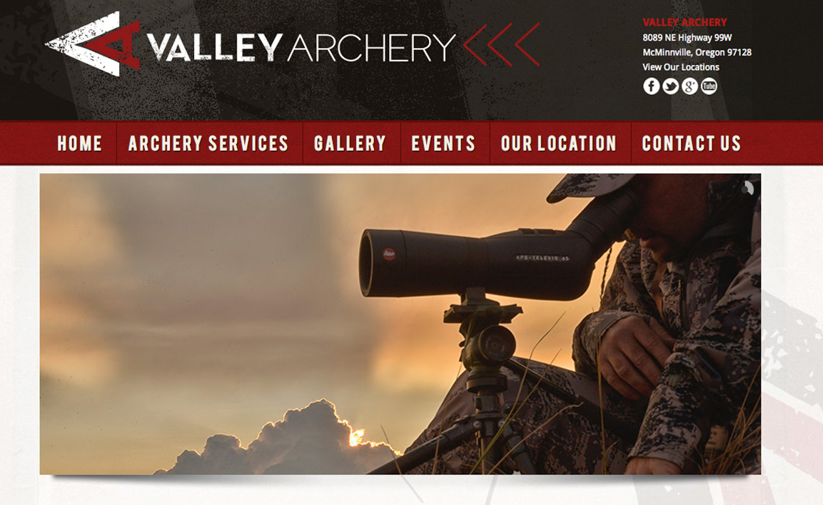 Valley Archery<div style='clear:both;width:100%;height:0px;'></div><span class='cat'>Custom Design</span>